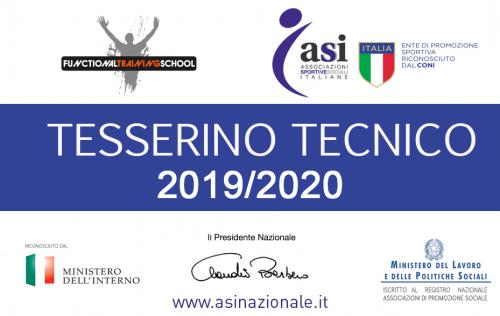Tesserino Functional Training School ASI