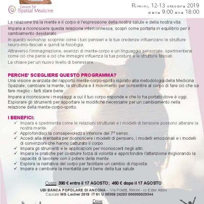Rimini, 12-13 ottobre 2019- Workshop esclusivo con KARIN LOCHER