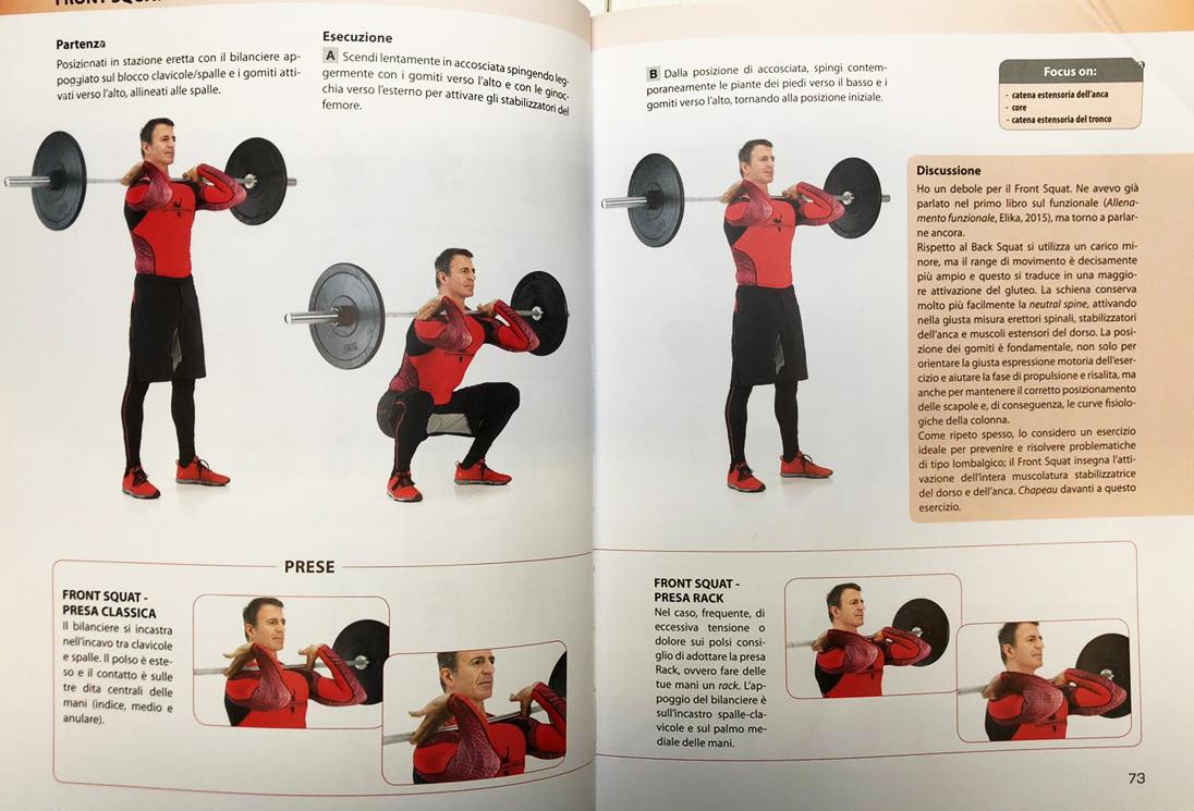 Front Squat: ampio range di movimento, maggiore attivazione del gluteo