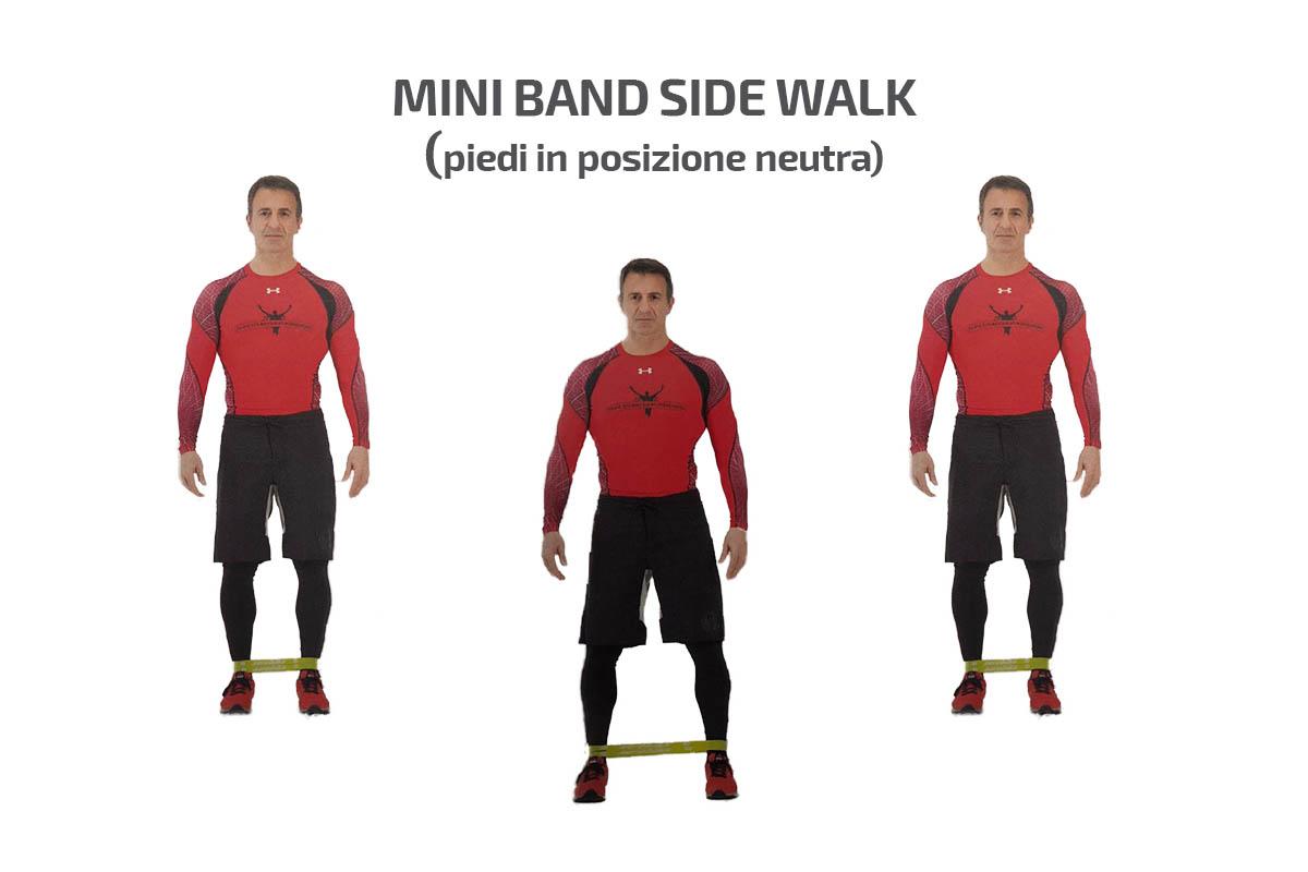 Mini Band Side Walk (piedi in posizione neutra)