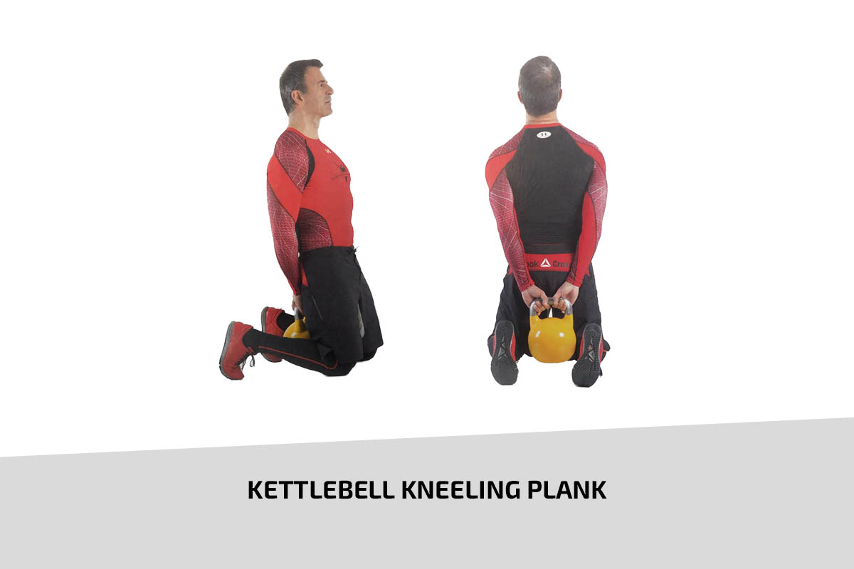 Kettlebell kneeling plank